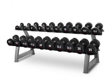 Titanium Strength Dumbbell Set 2,5- 25Kg + Rack