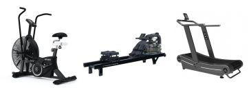 Titanium Strength Pack AirBike + Acqua Rower PRO + Curved Treadmill HIIT Cardio, Fitness, Crossfit