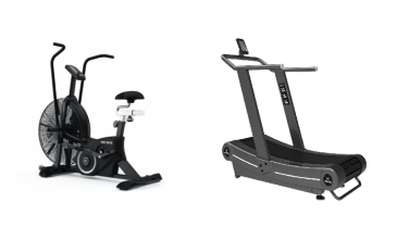 Titanium Strength Pack Airbike + Curved Treadmill, HIIT Cardio, Fitness, Crossfit