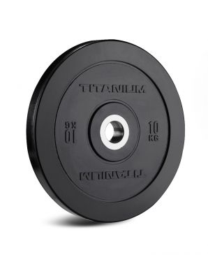 Titanium Strength HD Bumper Plates Black 22 LB  Olympic, Functional, Crossfit, Fitness, Home Gym