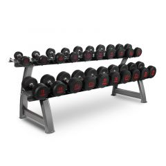 Titanium Strength Dumbbell Set 4,4 - 44 LB + Rack, Olympic, Functional, Crossfit, Fitness, Home Gym