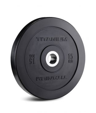 Titanium Strength HD Bumper Plates Black 33 LB, Olympic, Functional, Crossfit, Fitness, Home Gym