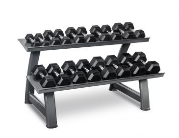 Titanium Strength Hex Dumbbell Set 4,4 - 44LB + Rack, Olympic, Functional, Crossfit, Fitness, Home Gym