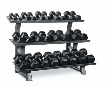 Titanium Strength Hex Dumbbell Set 4,4-66lb, Olympic, Functional, Crossfit, Fitness, Home Gym