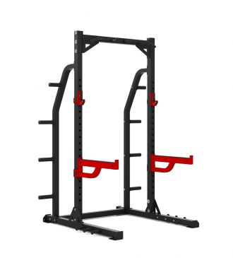 Titanium Strength Commercial HD Half Rack - X Line, Squat, Rack, Press, Shoulder, Chest, Home Workout, Home Gym, Functional, Bar, Fitness, Crossfit